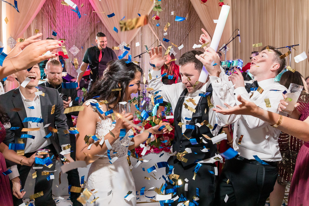 confetti canon at San Francisco wedding reception - best party ever