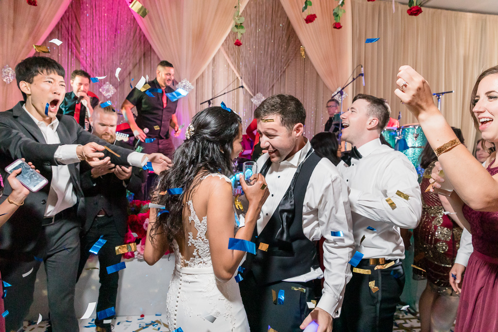 wedding dance party at Hotel Nia