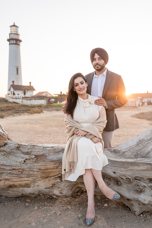 Pigeon Point Lighthouse save the date photo