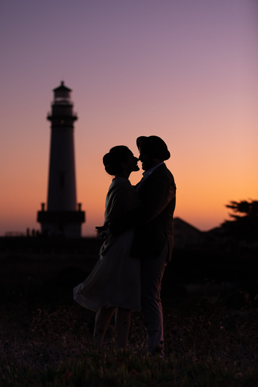 Pigeon Point Lighthouse silhouette photo