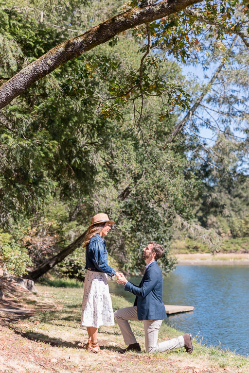 Napa Valley lakeside winery surprise proposal