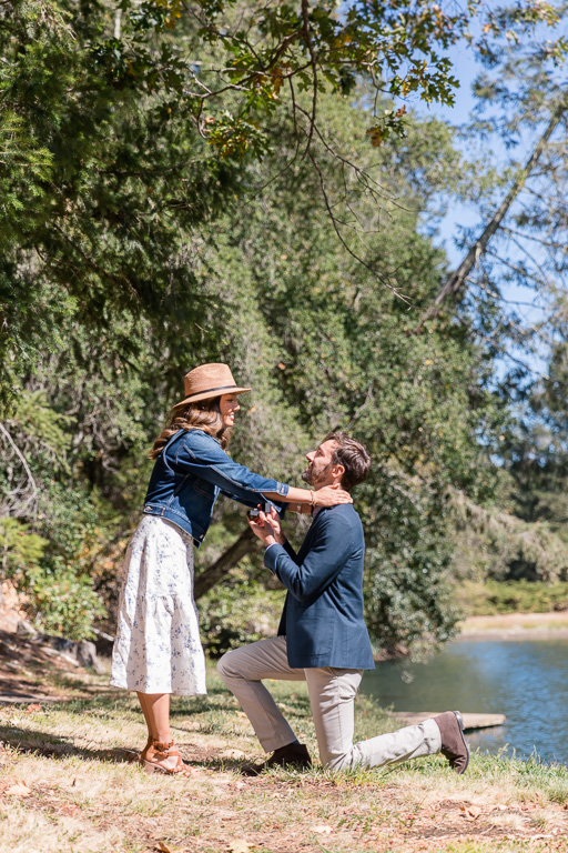 Diamond Creek Vineyards surprise marriage proposal
