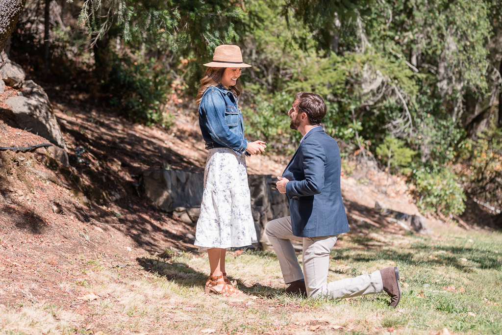Diamond Creek Winery surprise proposal