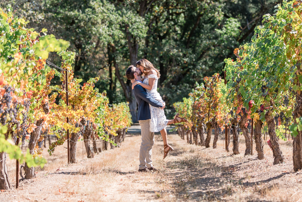 Diamond Creek Vineyards engagement photo