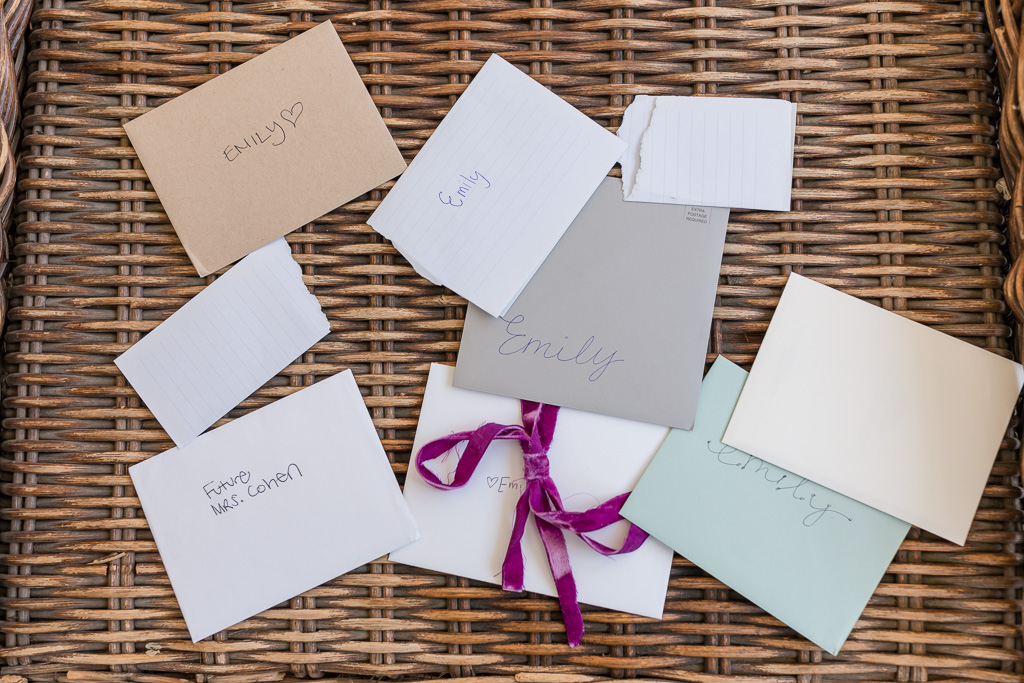 sweet letters to the bride from the bridal party