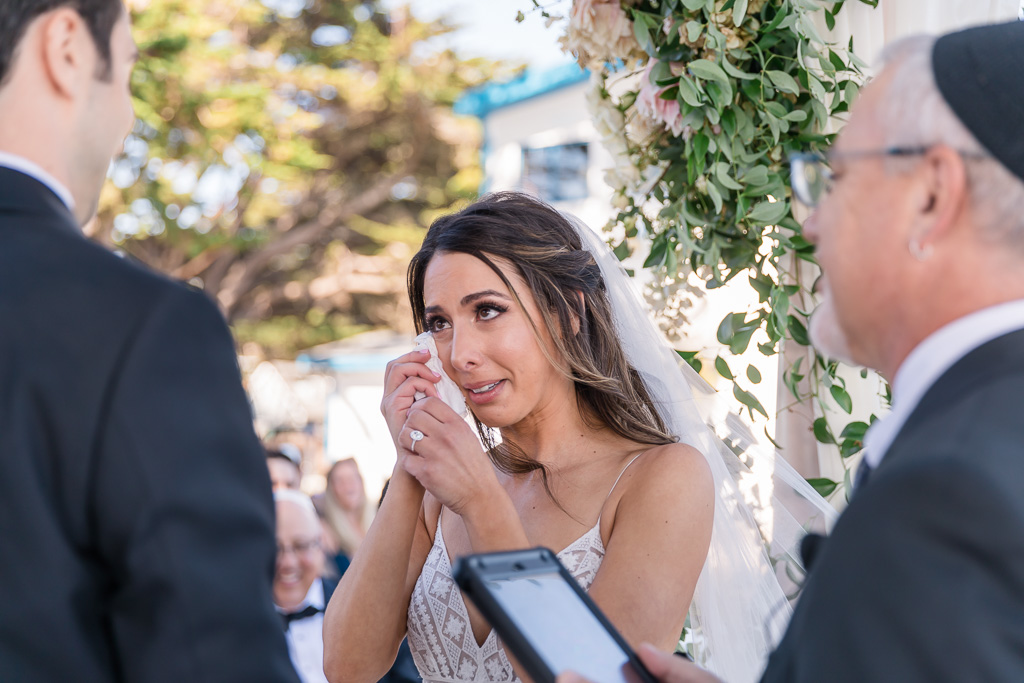 bride got emotional during the ceremony