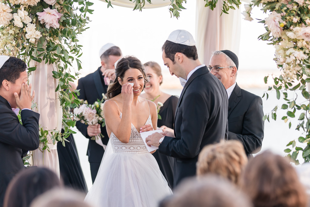 a touching and beautiful wedding ceremony in Half Moon Bay