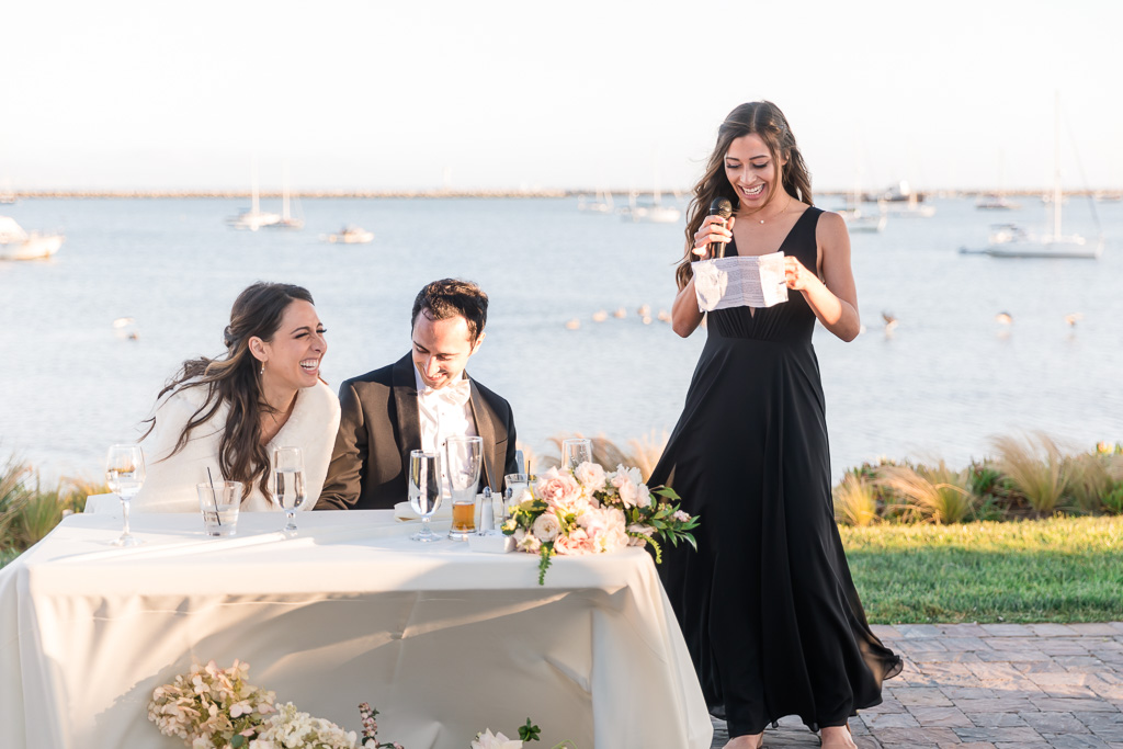 bridesmaid gave an embarrassing yet hilarious toast