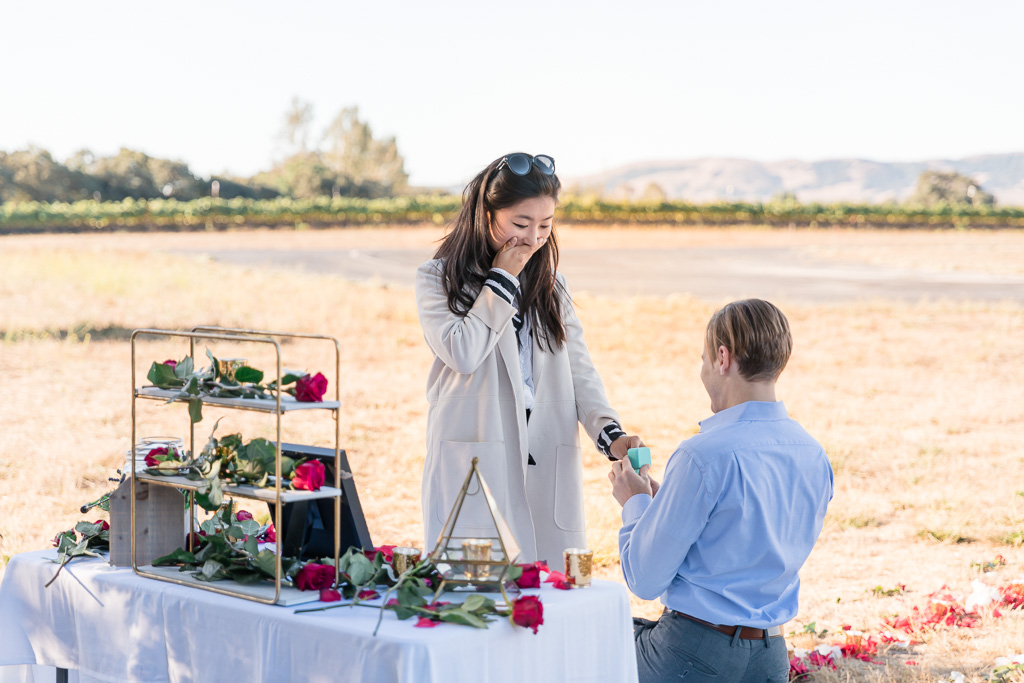 surprise proposal at Bay Area private airport