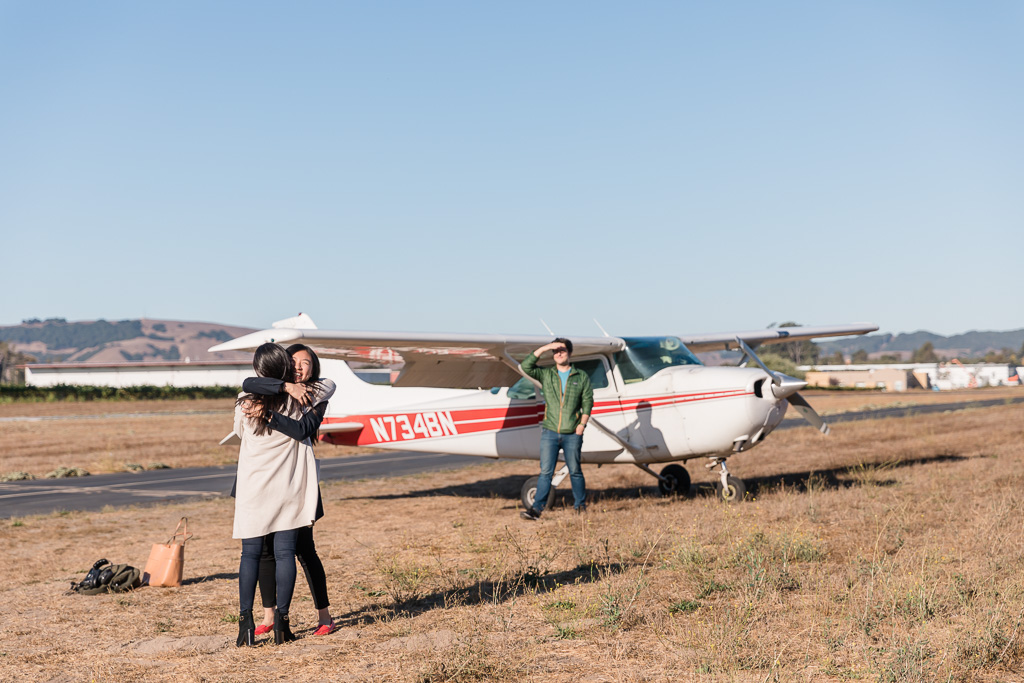 a well executed surprise proposal involving a private plane