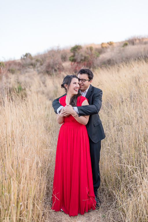 Coyote Hills Regional Park engagement photo on the hiking trail