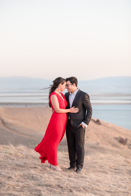 couple engagement portrait at Coyote Hills Regional Park