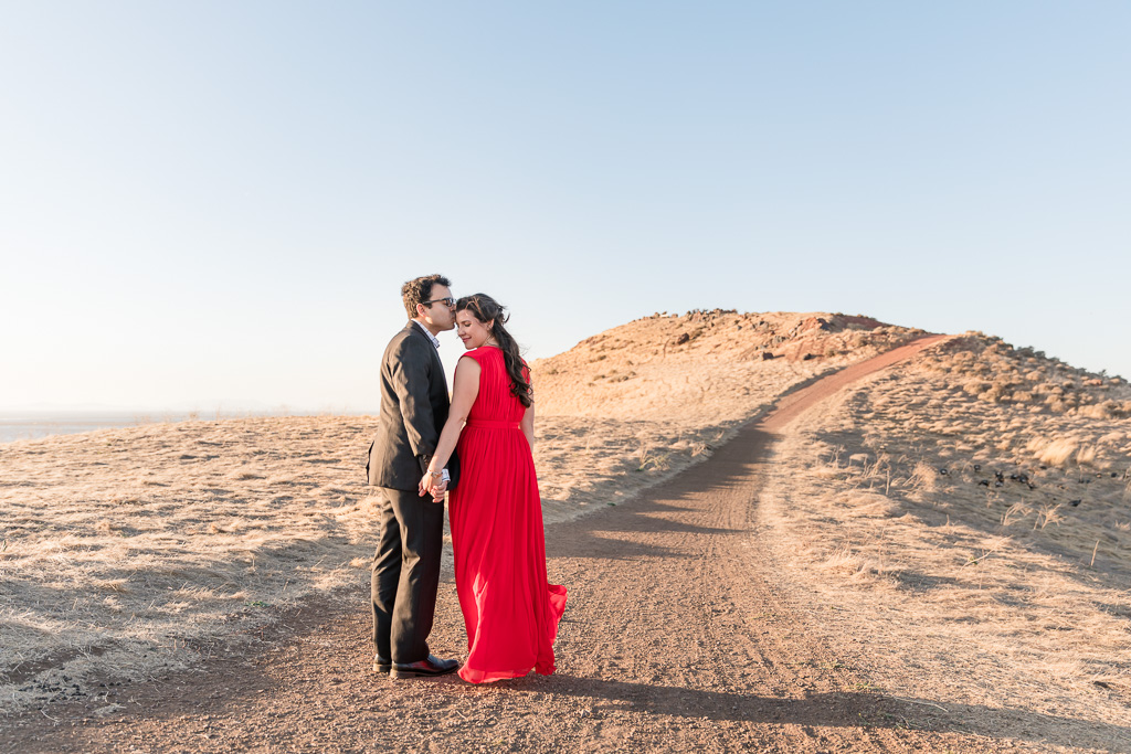 East Bay romantic engagement portrait