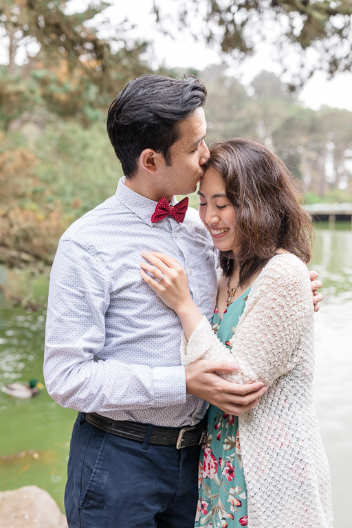 Stow Lake engagement photo