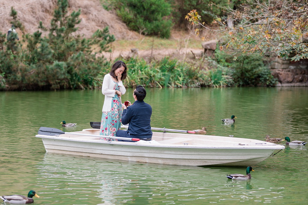 Stow Lake row boat surprise proposal