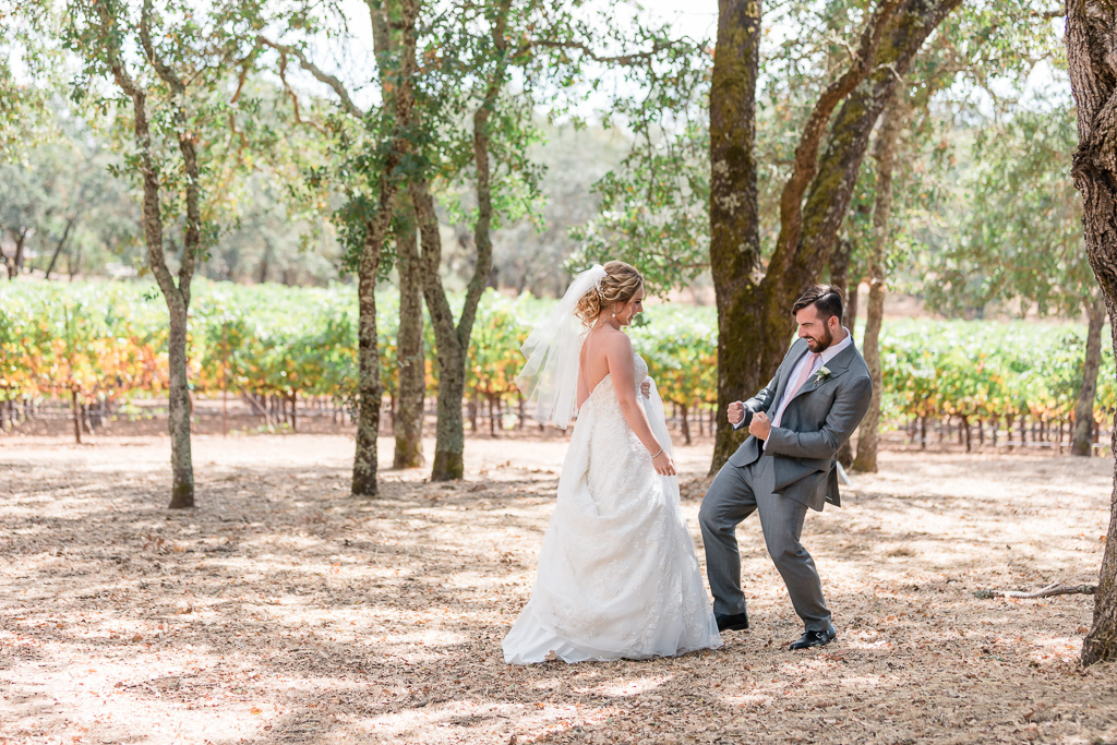 cutest first look ever at B.R. Cohn Winery