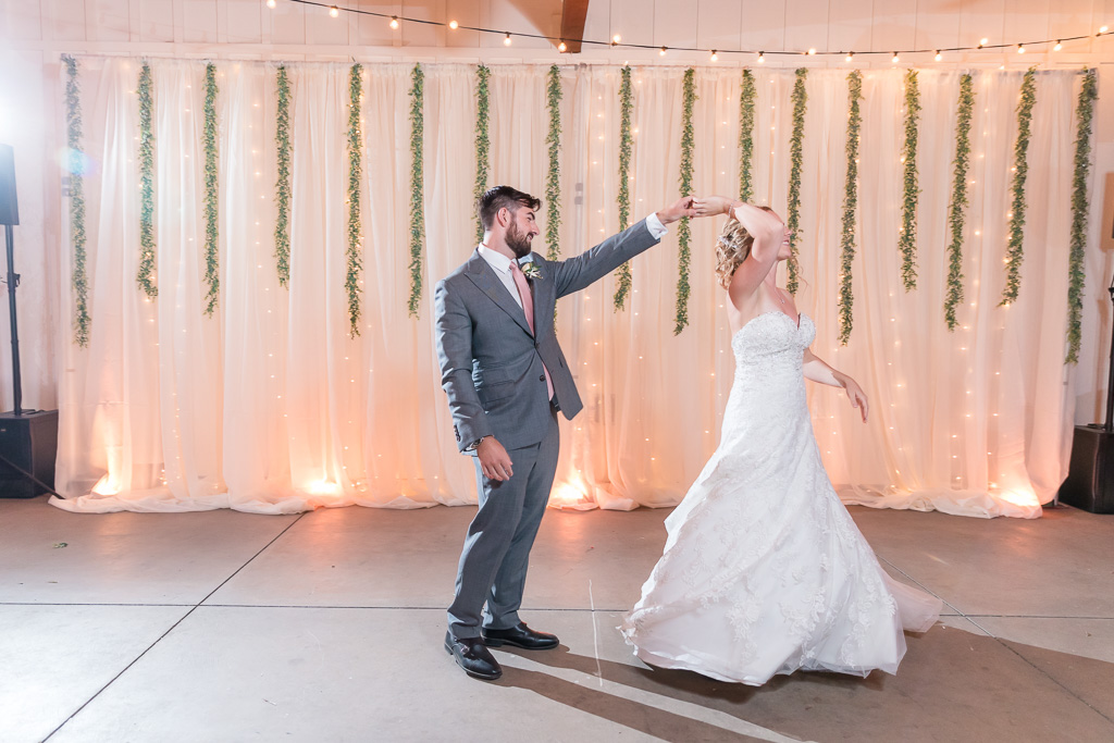 twirling as husband and wife