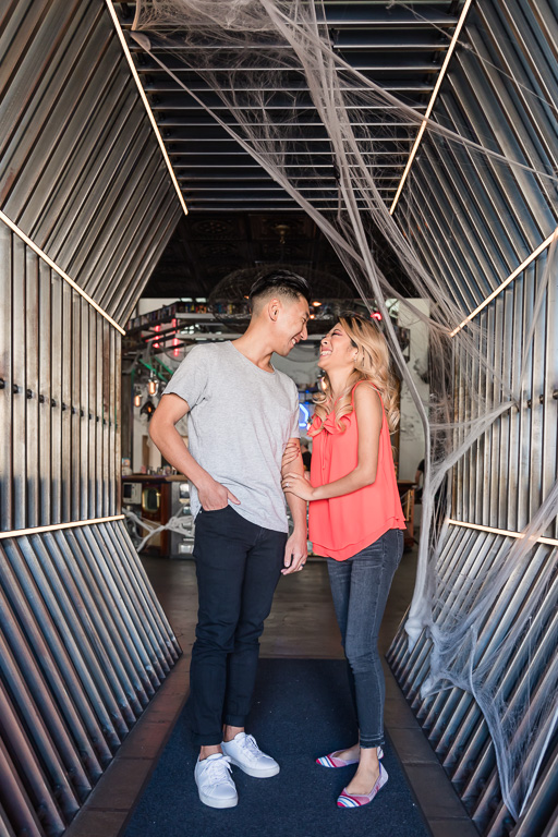 Coin-Op Game Room engagement couple portrait