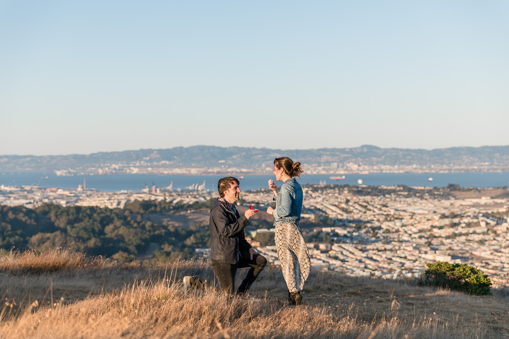 San Francisco Mountaintop proposal with a sweeping view of the Bay