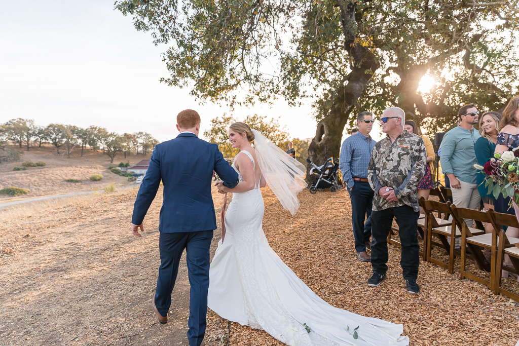candid post-ceremony moment