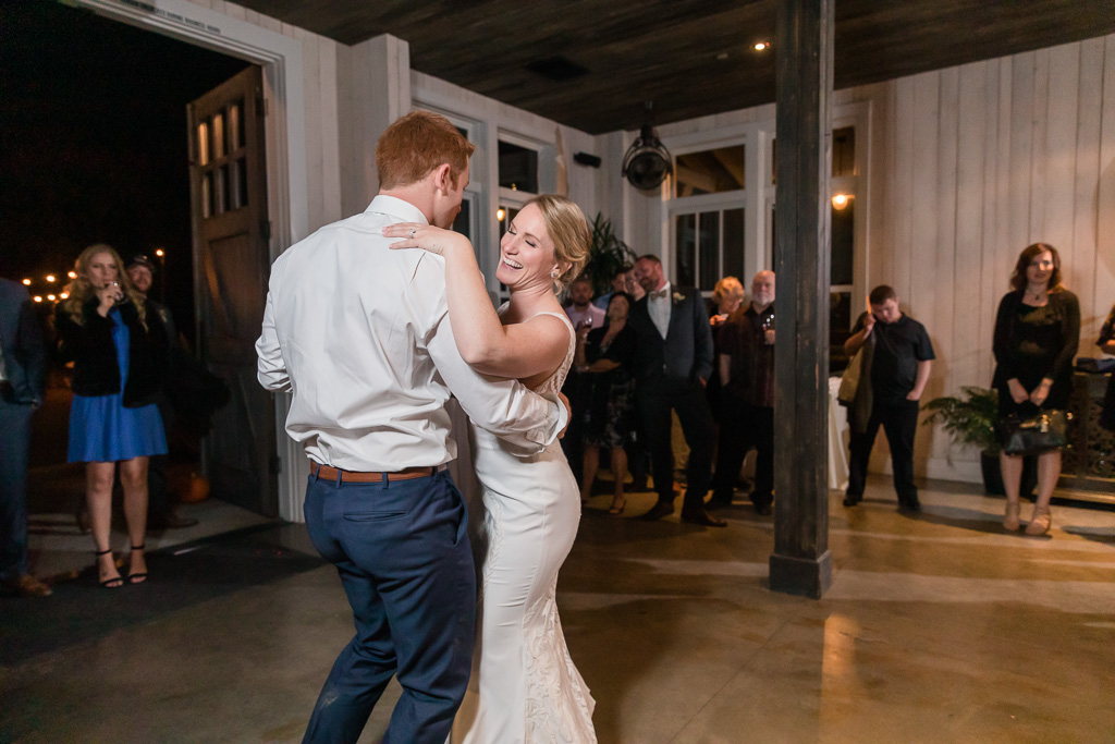 romantic first dance as husband and wife
