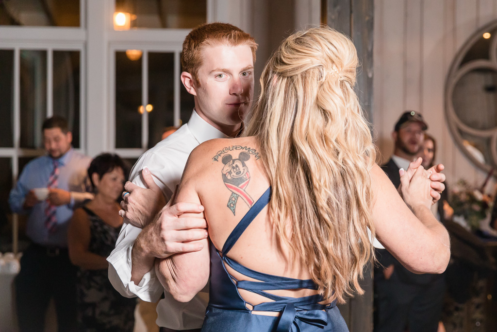 groom's mother has the coolest tattoo