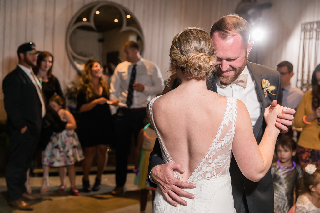 bride dancing emotionally with her best friend