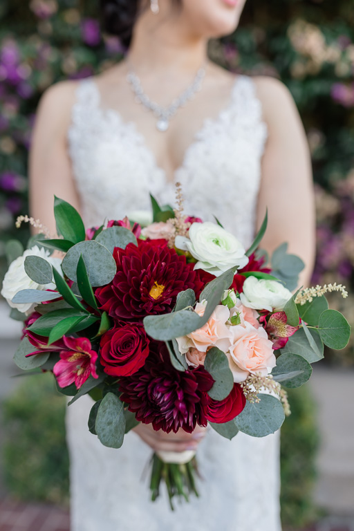 bridal bouquet for an elegant Burlingame wedding