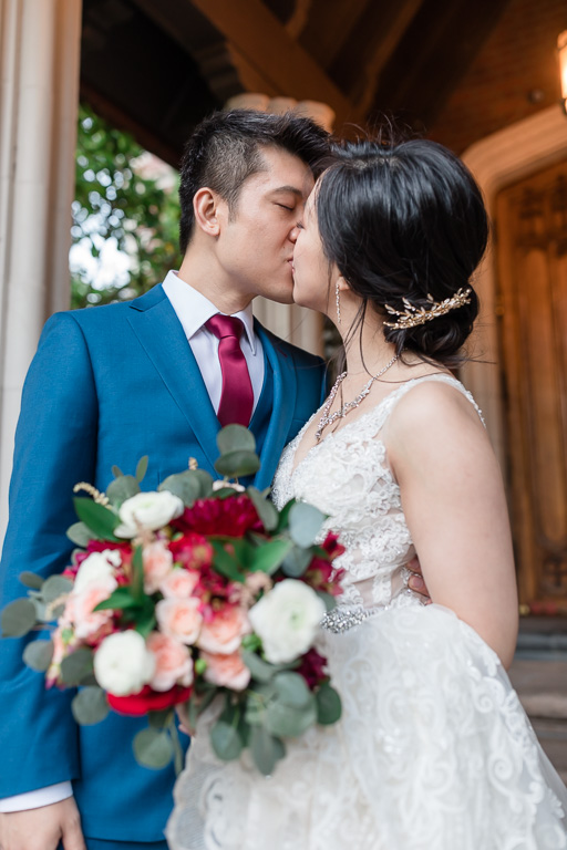 kissing after the ceremony