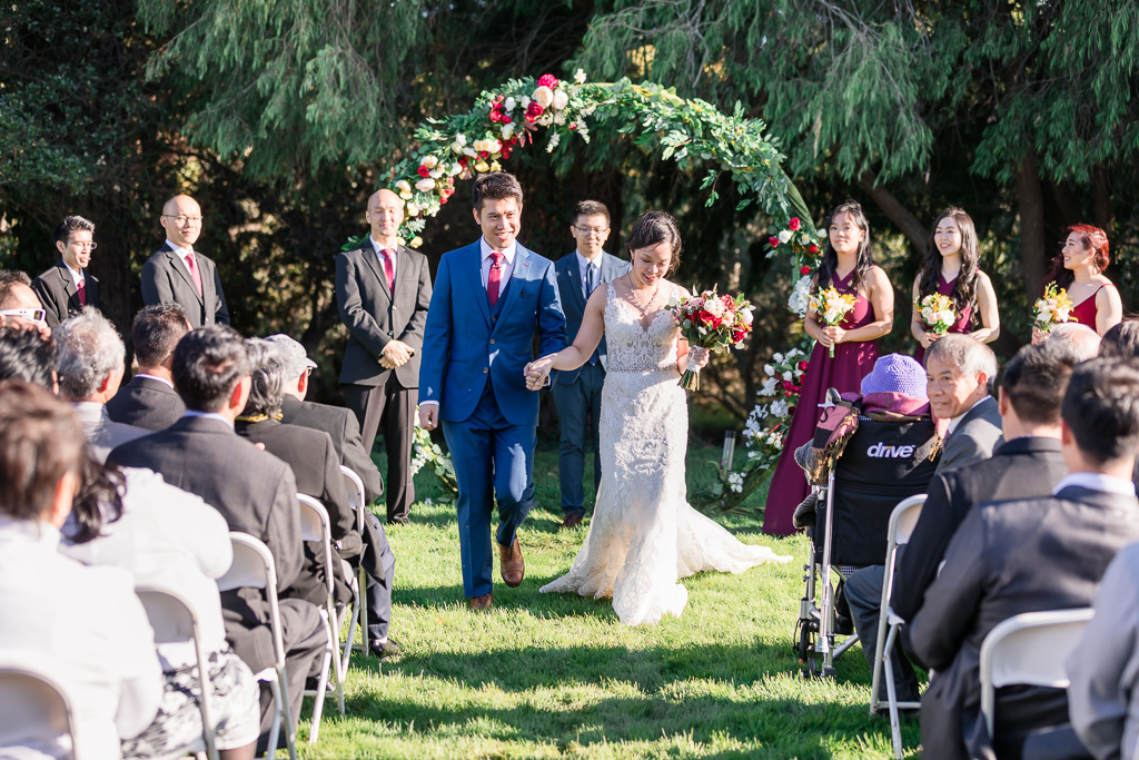 outdoor wedding recessional
