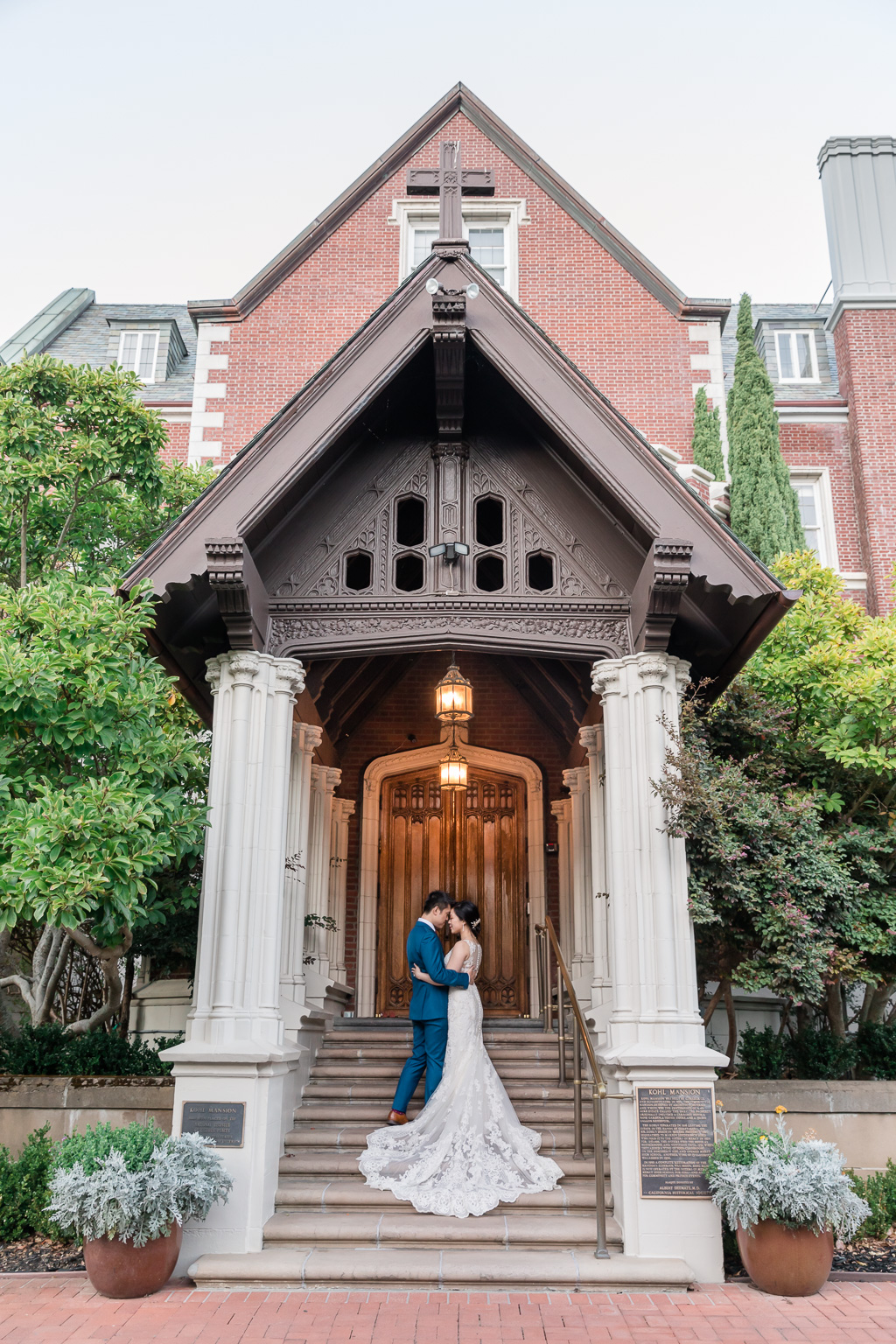 elegant Kohl Mansion wedding photo