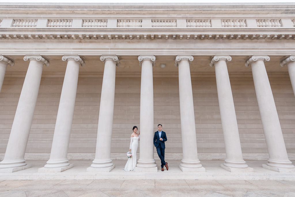 iconic San Francisco architecture for wedding portraits