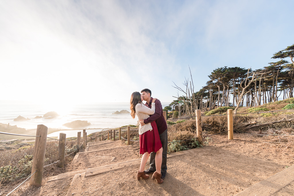 couple outdoor engagement photo