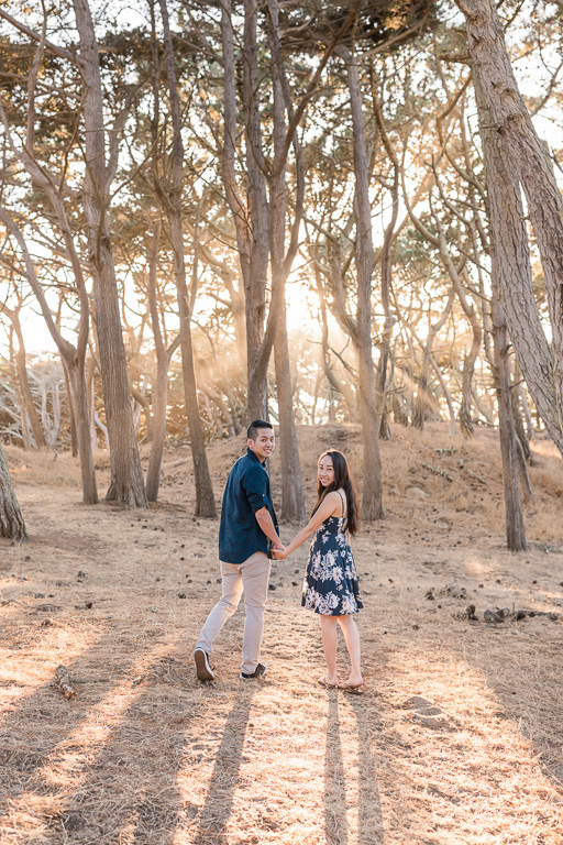 enchanted forest for San Francisco engagement picture