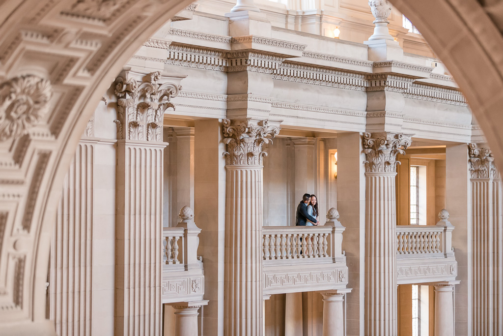 San Francisco city hall offers the most stunning backdrop for engagement photos