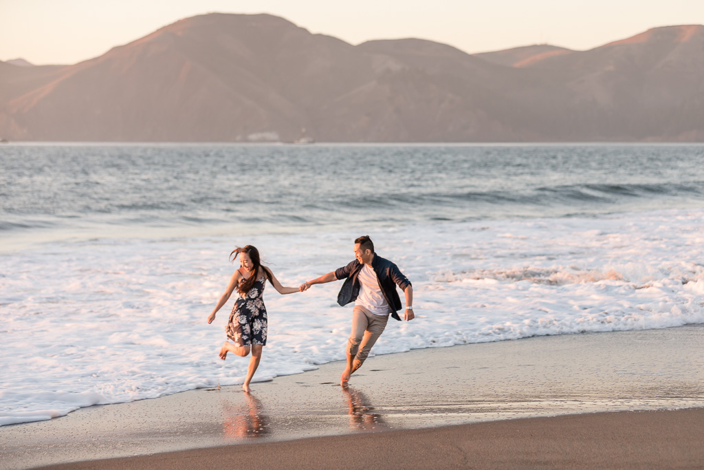 playful San Francisco engagement save-the-date photo