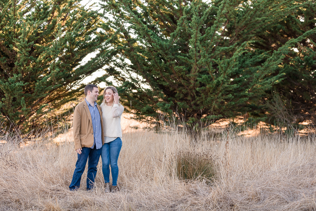 Half Moon Bay forest engagement photo