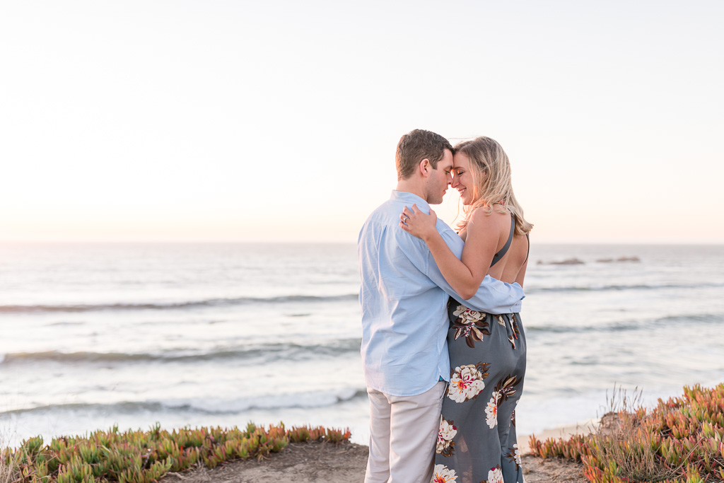 engagement photo overlooking Pelican Point Beach