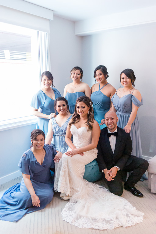 bridal party at Hotel Via