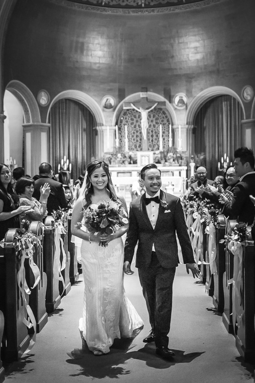 walking down the aisle as a married couple