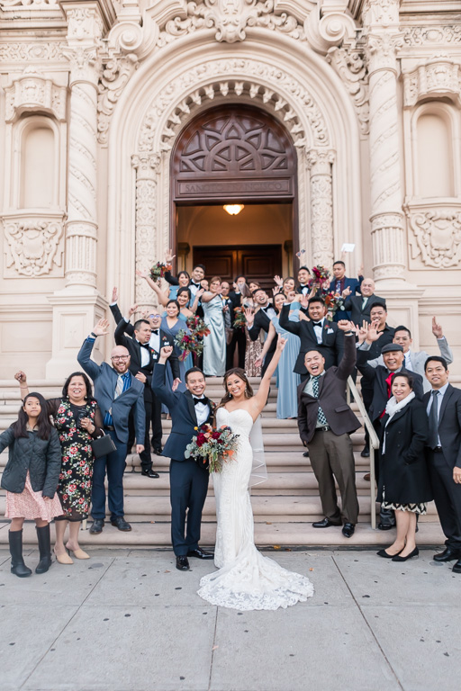 Mission Dolores Basilica wedding ceremony grand exit