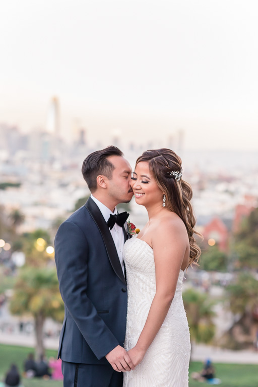 wedding portrait at Mission Dolores Park