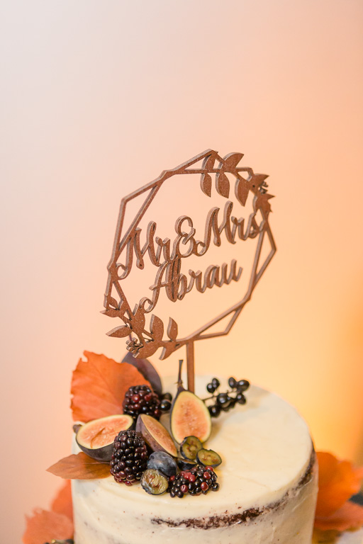 fall color cake topper