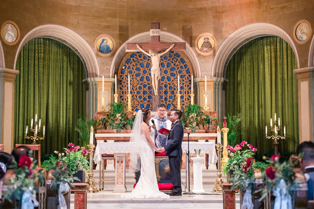 Mission Dolores Basilica church ceremony
