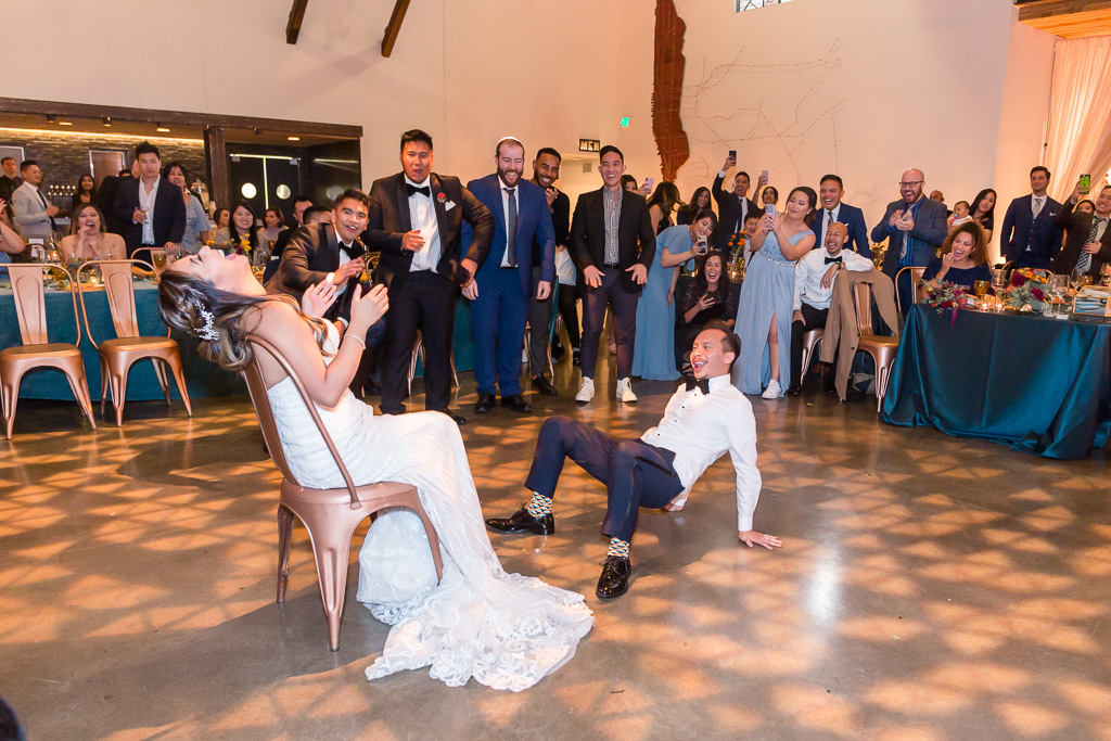 hilarious sexy floor dance by the groom