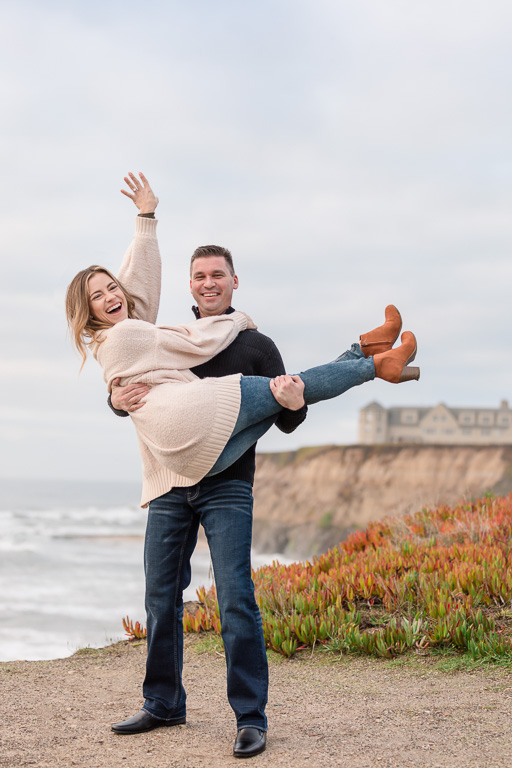 engagement photo pose showing off ring