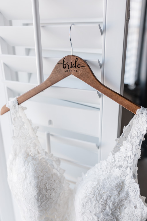 customized wooden bridal hanger
