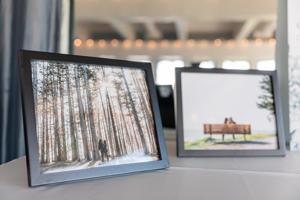 photo print-outs as a part of wedding decoration