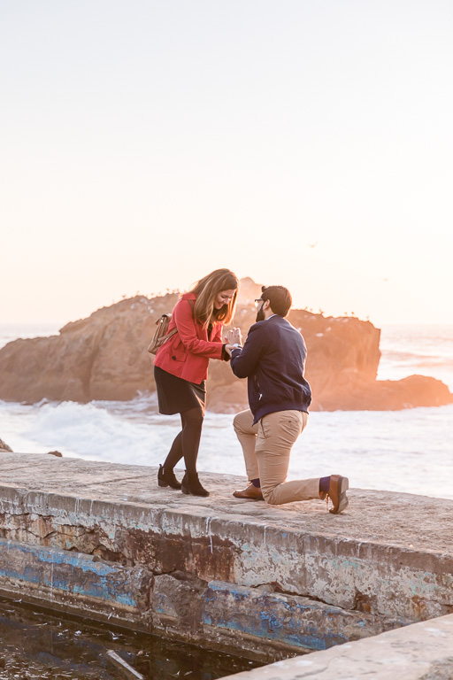 proposal at Sutro Baths ruins
