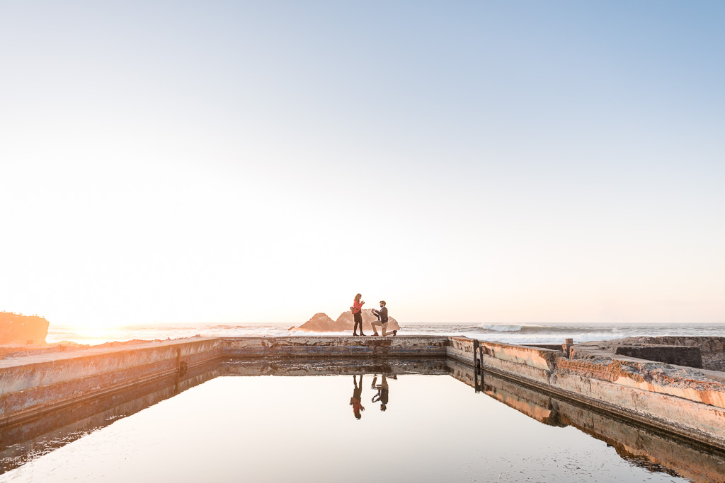 San Francisco sunset Sutro Baths proposal